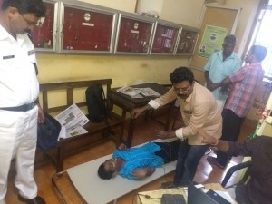 Adhar enrolment of physically challenged and disabled person at District Collectorate Thrissur as part of adalat conducted by District Legal Services Authority and District Administartion