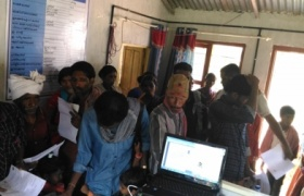 Aadhaar enrollment camp at Edamalakudy GP (only tribal GP in Kerala )