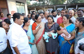 New Born Aadhar by Hon, Health Minister - Kottayam - Akshaya: Gateway of Opportunities