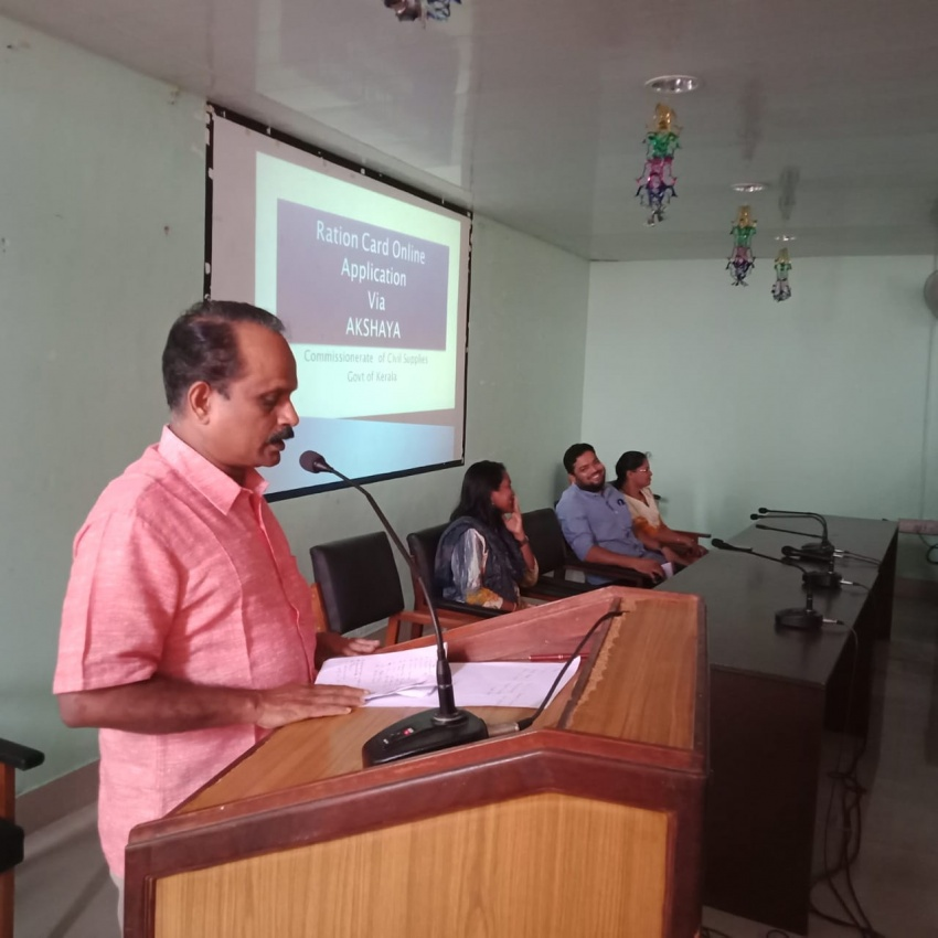 Rationcard online Application Training at Civil Supply  Office  Kadavanthara