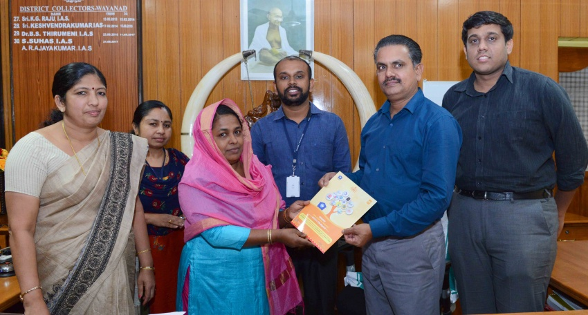 Renewed Service chart handing over by Hon.District Collector, Wayanad